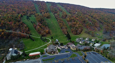 Bristol Mountain ski resort, during the fall, without any snow
