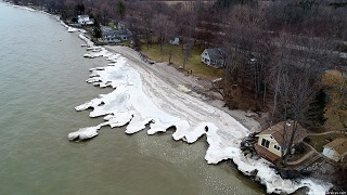 Hamlin 2017-01-15, frozen beach from the air