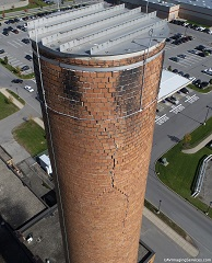 smokestack, including cap on top