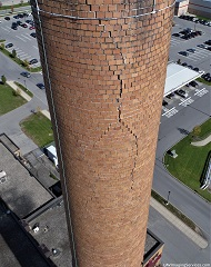 smokestack, focus on brickwork