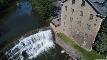 view of the falls, Honeoye Falls, upper mill